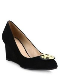 beb65a1ec152bd Women s Black Suede Wedge Pumps by Tory Burch