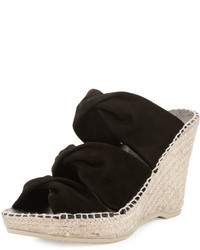 Vaneli For Jildor Emmie Wedge Sandal Black Suede Where