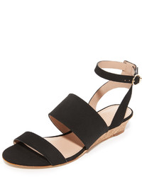 f674ceffc39 Women s Black Suede Wedge Sandals by Tory Burch
