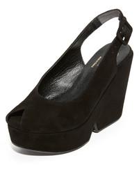 Robert Clergerie Peep Toe Wedge Sandals