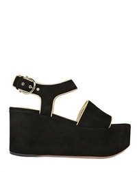 Salvatore Ferragamo 90mm Lucrezia Suede Wedge Sandals