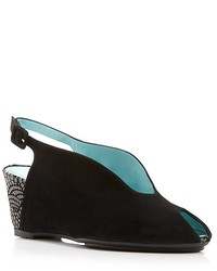 Thierry Rabotin Slingback Wedges Wave Cut