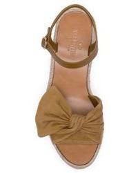 26f9909216 ... Valentino Garavani Valentino Tropical Bow Suede Espadrille Wedge  Platform Sandals ...