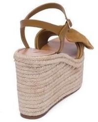 cf64d6aaf5 ... Valentino Garavani Valentino Tropical Bow Suede Espadrille Wedge  Platform Sandals