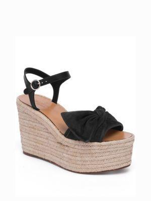 58f5d8fb26ef3 ... Valentino Garavani Valentino Tropical Bow Suede Espadrille Wedge  Platform Sandals ...