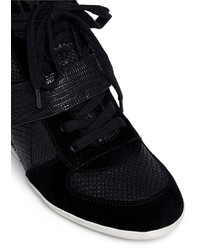 69192dce062a ... Ash Bowie Suede Leather High Top Wedge Sneakers ...