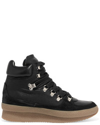Brent suede leather and canvas sneakers black medium 1334366