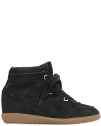 Isabel marant etoile 80mm bobby suede wedge sneakers medium 627703