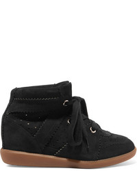 Isabel marant toile bobby suede wedge sneakers black medium 3700009