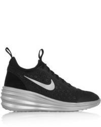 premium selection 9d786 02810 ... Nike Lunarelite Sky Hi Canvas And Suede Wedge Sneakers