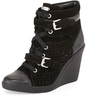 94dd145a25f ... Sneakers MICHAEL Michael Kors Michl Michl Kors Leather Wedge ...