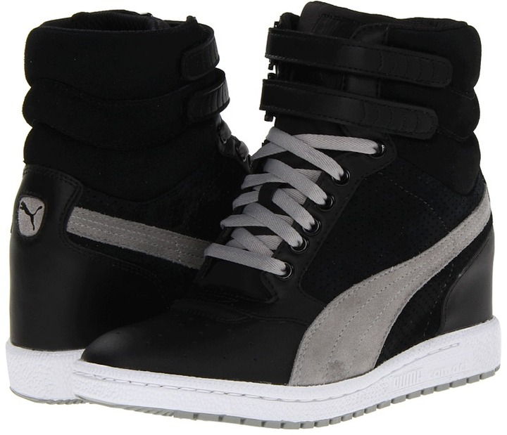 puma sky wedge noir