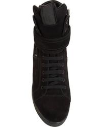 5a7067e0e6f8 ... Prada Linea Rossa Suede High Top Wedge Sneaker ...