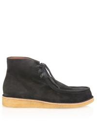 Black Suede Work Boots