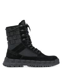 Versace Lace Up Combat Boots