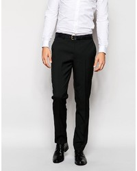 Asos Slim Tuxedo Suit Pants In Black