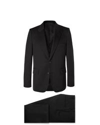 The Row Black David Slim Fit Wool Twill Suit