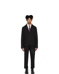 Thom Browne Black Loopback 4 Bar Suit