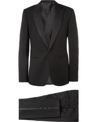 Balenciaga Black Slim Fit Wool Tuxedo