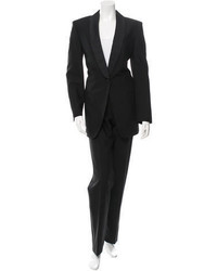Calvin Klein Collection Black Wool Tuxedo Suit