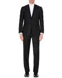Canali Black Wool Twill Suit