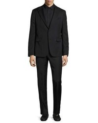 Versace Collection Slim Fit Trend Two Button Peak Lapel Suit
