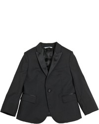Dolce & Gabbana Cool Wool Suit With Silk Satin Details