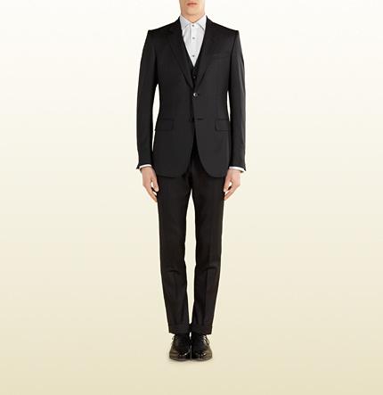 6d8450bbc Gucci Marseille Wool Silk Suit, $3,050 | Gucci | Lookastic.com