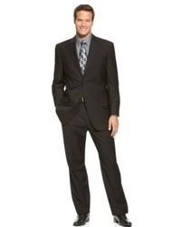 Izod Suit Two Button Black Solid