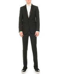 Lanvin Satin Lapel Tuxedo Jacket Black