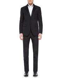 Givenchy Madonna Collar Wool Tuxedo Jacket Black