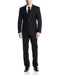 Nautica Two Button Side Vent Classic Fit Suit With Flat Front Pant