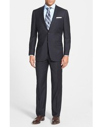 Hart Schaffner Marx New York Classic Fit Solid Stretch Wool Suit