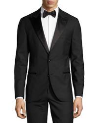 Brunello Cucinelli Notch Lapel Two Piece Tuxedo Suit Black