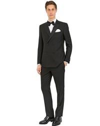 Salvatore Ferragamo Wool Barathea Tuxedo Suit
