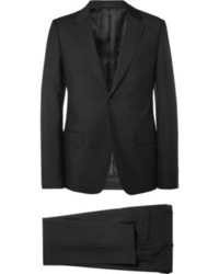 Alexander McQueen Slim Fit Black Wool And Mohair Blend Suit