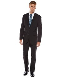Apt. 9 Slim Fit Solid Black Suit