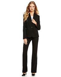 Tahari Asl Bi Stretch Basic Pant Suit