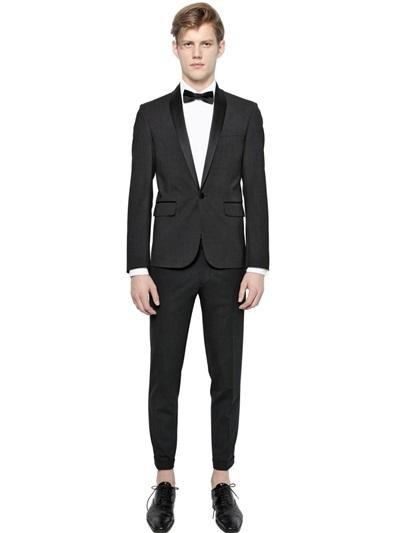 $1,995, DSQUARED2 Tokyo Satin Lapels Wool Tuxedo