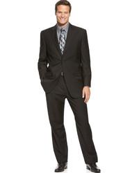 Izod Two Button Black Solid Suit