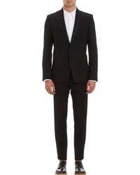 Ann Demeulemeester Two Button Tuxedo Suit Black