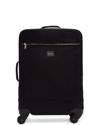 Paul Smith Black Canvas Multistripe Suitcase