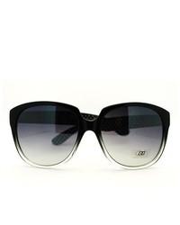 106Shades Dg Eyewear Round Oversized Horn Rim Fashion Sunglasses Black
