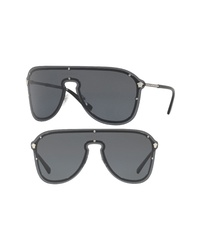 Versace 144mm Shield Sunglasses