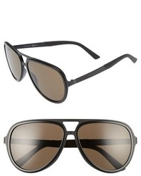 Gucci 2274s 59mm Aviator Sunglasses Matte Black