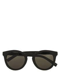 Topman 46mm Rubberized Round Sunglasses Black