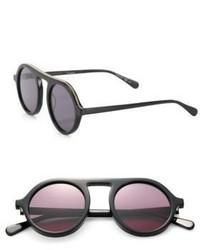 Stella McCartney 48mm Falabella Chain Round Sunglasses