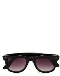Topman 48mm Round Sunglasses Black