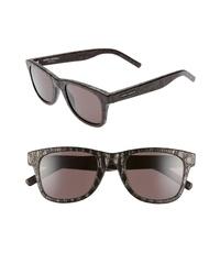 Saint Laurent 50mm Leather Flat Top Sunglasses