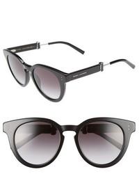 Marc Jacobs 50mm Round Sunglasses Black